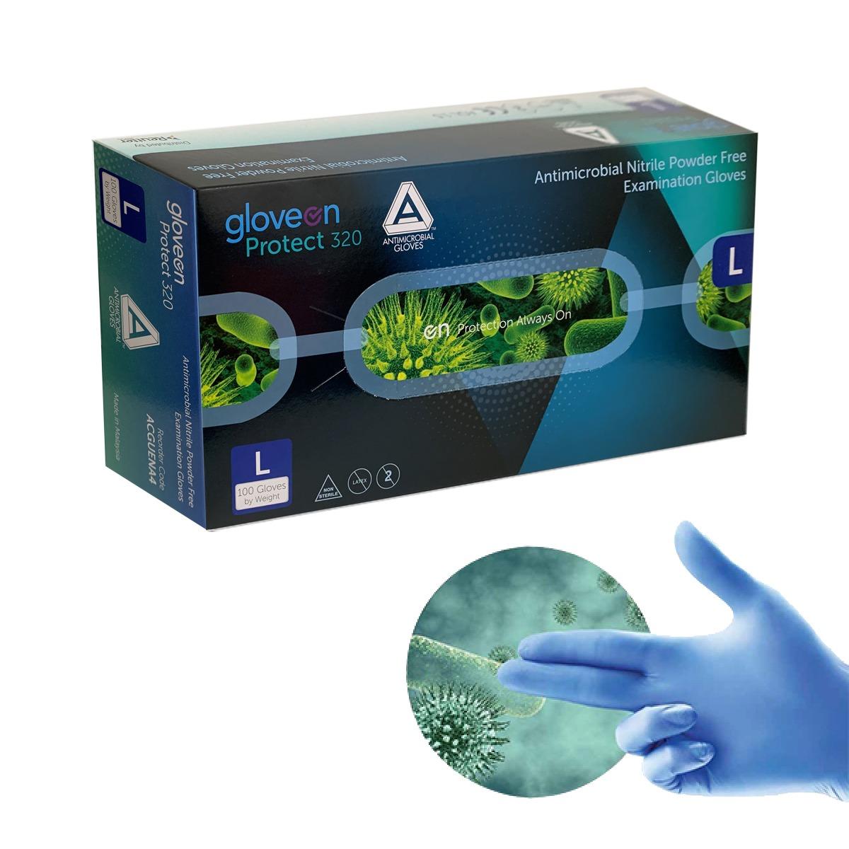 Guante antimicrobiano AMG nitrilo sin polvo